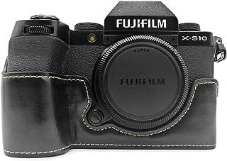FUJI X-S10 etui, MUZIRI KINOKOO etui ze skóry PU kompatybilne z FUJI X-S10 etui ochronne Fujifilm XS10 etui uchwyt - czarne