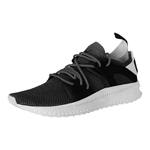 06442797d766 Puma Tsugi Disc Mens Black Mesh Leather High Top Lace Up Sneakers Shoes 9