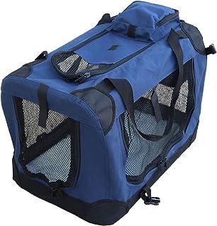 YATEK Transportin para Perros Plegable entradas Laterales y Superiores con Alta Visibilidad, Confort y Seguridad para tu Mascota (Tamaño S (49,5 x 34,5 x 35cm)