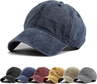 Men Women Washed Twill Cotton Baseball Cap Vintage Adjustable Dad Hat