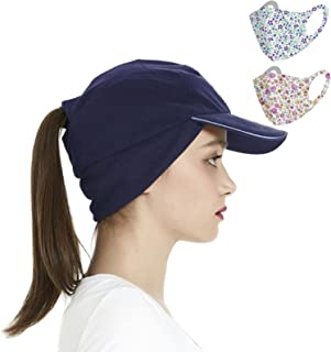 Sponsored Ad - Women Winter Fleece Baseball Caps with Drop Down Ear Warmer Girl Ponytail Hats Camp Ski Running Cap Men Col...