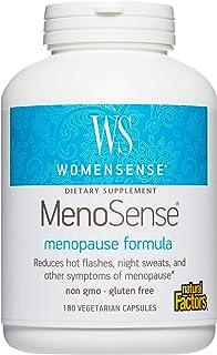 WomenSense MenoSense by Natural Factors, Natural Supplement to Help Improve Menopause Symptoms, Vegan, Non-GMO, 180 capsul...
