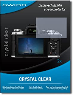 2 x SWIDO Protector de pantalla Olympus OM-D E-M5 Mark II Protectores de pantalla de película CrystalClear invisible