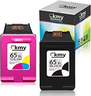CKMY Remanufactured 65XL Ink Cartridge Replacement for HP 65 (1 Black & 1 TriColor) for Envy 5052 5055 5012 5010 5020 5030...