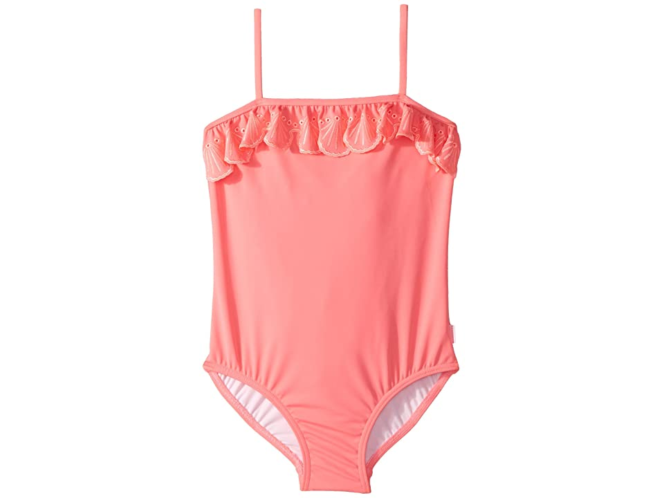 Seafolly Kids Sweet Summer Frill Tube Tank One-Piece (Infant/Toddler/Little Kids) (Rose Pink) Girl