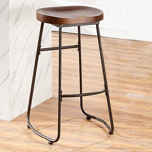 Strange Farmhouse Bar Stool Amazon Com Ibusinesslaw Wood Chair Design Ideas Ibusinesslaworg