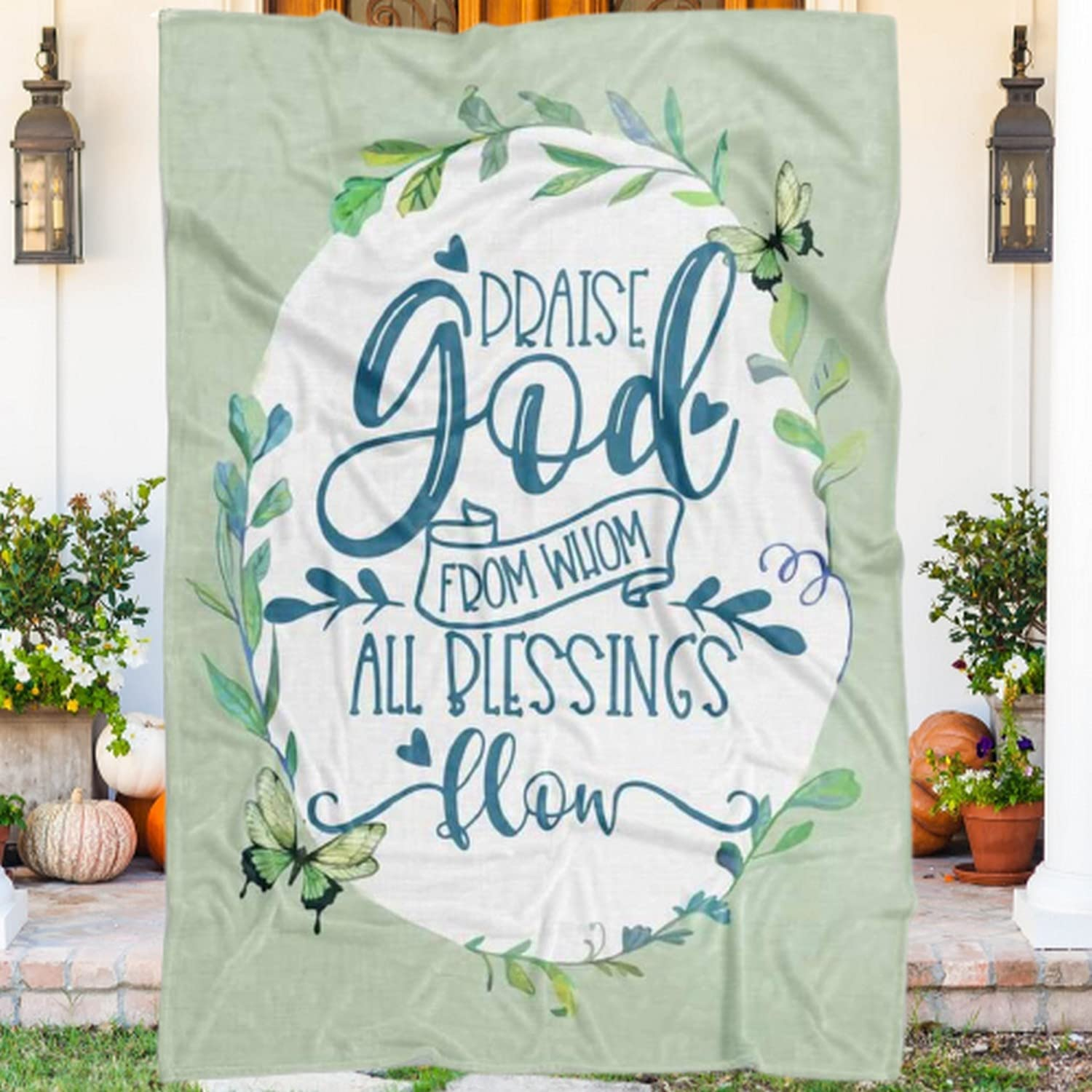 Praise God From Whom All Blessings Max shopping 59% OFF Su Blanket Flow Throw Flannel