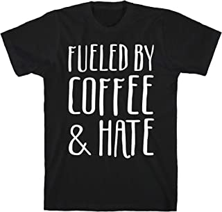 LookHUMAN Fueled by Coffee & Hate Black Men`s Cotton Tee