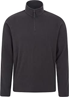 Mountain Warehouse Mens Camber Fleece Top - Lightweight Top, Breathable Sweater, Quick Drying Pullover, Extra Ventilation...