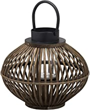Hill 1975 Brown Bamboo Style Lantern, Wicker, Mixed, One Size