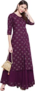Khushal K Women's Rayon straight Salwar Suit Set