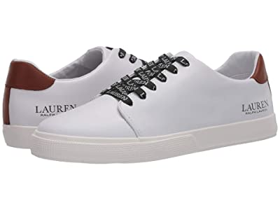 LAUREN Ralph Lauren Joana (White/Deep Saddle Tan) Women