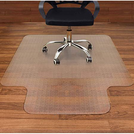 Flat Without Curling Floor Mats for Computer Desk Carpet Office Transparent Mat Flat Without Curling Chair Mat for Hard Floor PVC Non Slip Anti Scratch