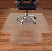 AiBOB Office Chair mat for Hardwood Floor, 53 x 45 inches, Easy Glide for Chairs, Flat..