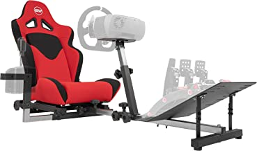 Best OpenWheeler GEN3 Racing Wheel Stand Cockpit Red on BLACK | Fits All Logitech G923 | G29 | G920 | Thrustmaster | Fanatec Wheels | Compatible with Xbox One, PS4, PC Platforms Review