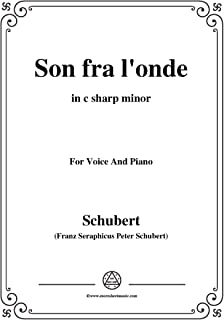 Schubert-Son fra l'onde,in c sharp minor,for Voice&Piano (French Edition)