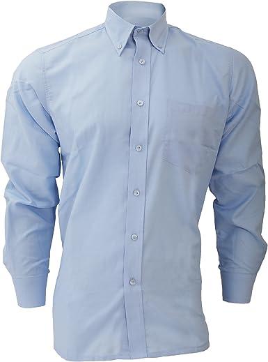 Dickies - Camisa de Manga Larga Modelo Oxford Algodón/Poliéster para Hombre Caballero - Fiesta/Trabajo/Eventos Importantes
