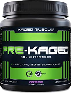 Pre Workout Powder; KAGED MUSCLE Preworkout for Men & Pre Workout Women, Delivers Intense Workout Energy, Focus & Pumps; O...