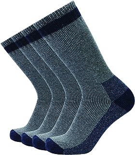 Enerwear 4P Pack Men's Merino Wool Outdoor Hiking Crew Socks