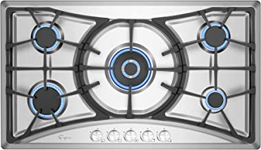 Empava 36 Inch Gas Cooktop Professional 5 Italy Sabaf Burners Stove Top Certified with..