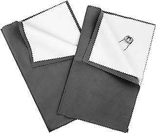 "2 Pack Large Size Silver Polishing Cloth - 11"" X 14"" Silver Polishing Cloth for Sterling Silver - Jewelry Cleaning Cloth f..."