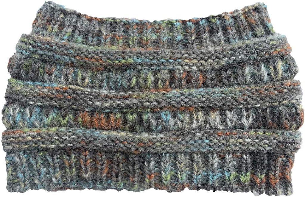 Arystk Womens Girls Knitted Headband Winter Warm Hair Band Ski Hat