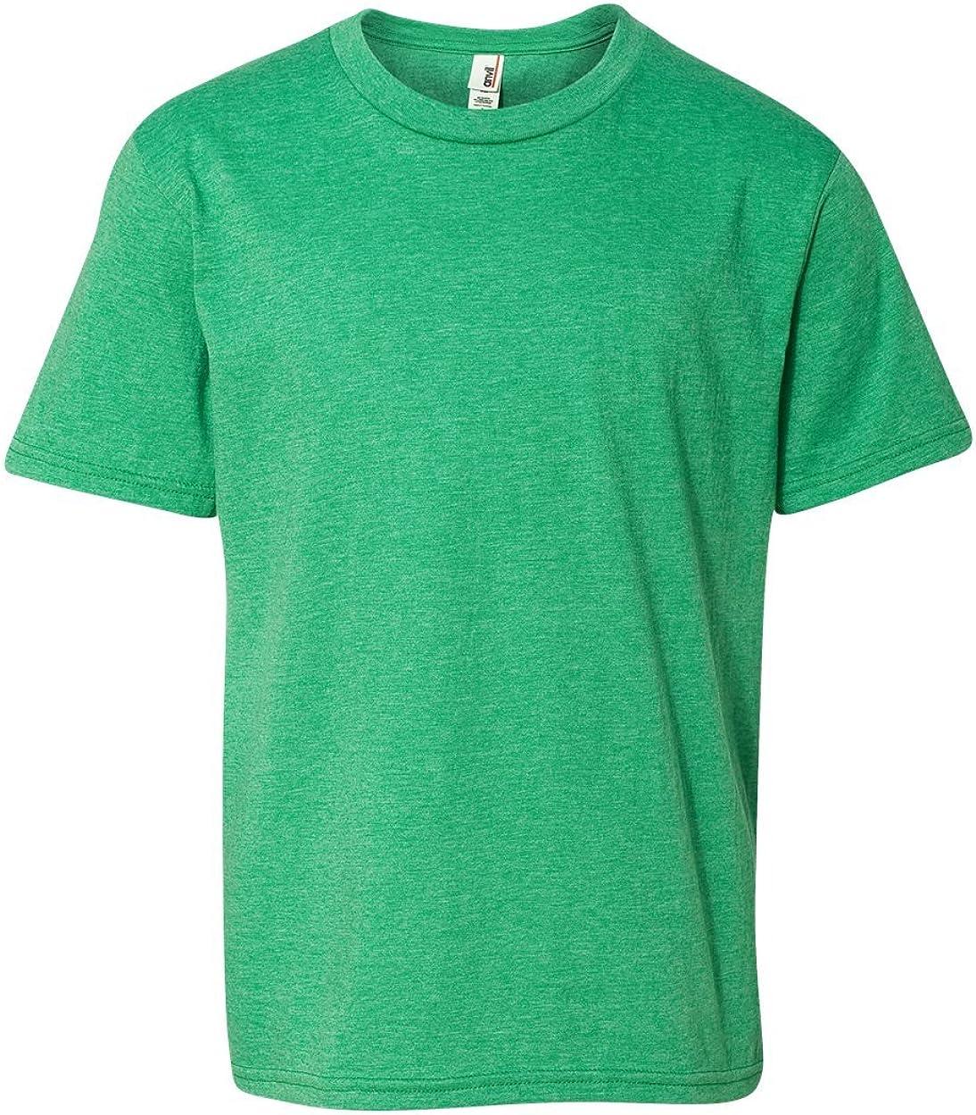 Anvil Youth Lightweight T-Shirt (990B) HEATHER GREEN