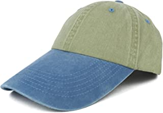 4 Inch Long Bill Pigment Dyed Washed Cotton Baseball Cap