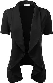 short sleeve black blazer plus size