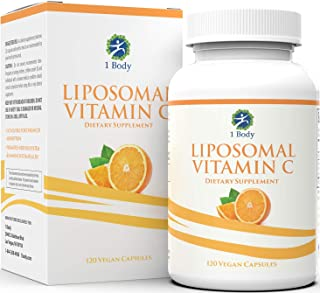Liposomal Vitamin C Capsules 1200mg – Collagen Support, Powerful Antioxidant Boost, High Dose & High Absorption VIT C Asco...