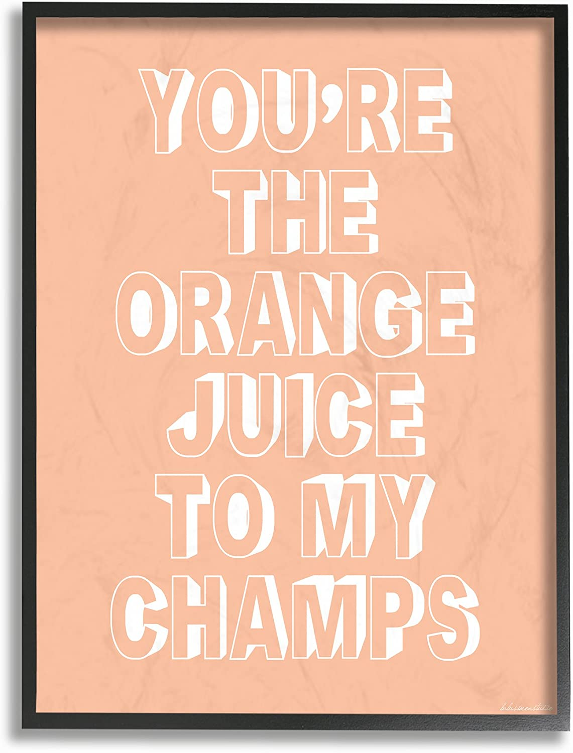 Stupell Industries You're The OJ to my Champs Framed Giclee Texturized Art, Proudly Made in USA