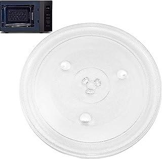 27cm Verre plat pour micro-ondes,Plateau tournant verre,Plaque en verre pour four à micro-ondes, Plaque en verre durable f...