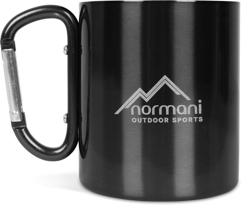 normani Outdoor Karabinertasse doppelwandiger Thermobecher 330 ml