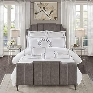 MADISON PARK SIGNATURE Hotel 101 400 Thread Count Comforter Set Bedding, Queen Size, Grey