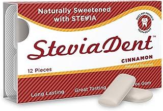 Stevita Stevia Dent Sugar-Free Gum - Natural Cinnamon Flavor (12 Pack) - 12 pieces - Supports Oral Health - Non GMO, Vegan...