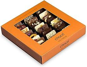 chocri Weltreise - 24 Schokoladen-Täfelchen in einer Geschenkbox - handbestreut mit Zutaten aus verschiedenen Regionen der Welt - Fairtrade-Kakao - perfektes Geschenk für Frauen und Männer, für die Mama und für die Eltern, zur Hochzeit oder zum Geburtstag - 165g