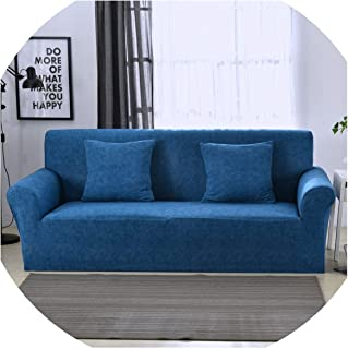 diverting 1pc Solid Color Stretch Sofa Cover All-Inclusive Non-Slip Slipcovers Sofa Cushion Sofa Towel,Color 6,3-Seater 190-230cm