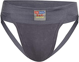 S&C Jockstrap Gym Athletic Cotton Supporter with Cup Pocket for Mens