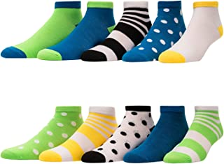 Women's Socks - Pack of 10 - Low Cut and No Show - Running Athletic Performance Socks