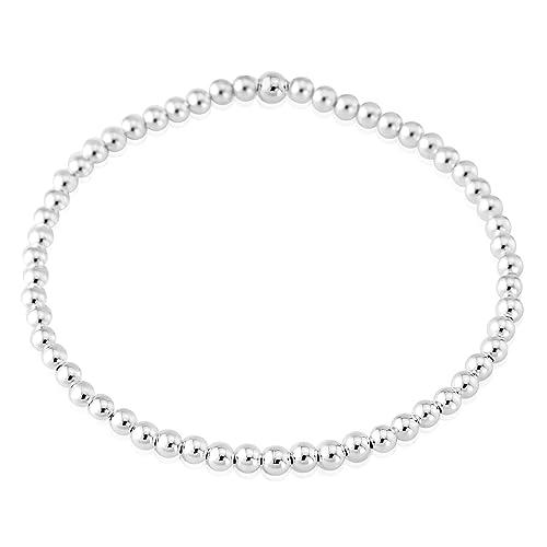 60e0017f4cb Sterling Silver 925 3mm Beaded Bracelet