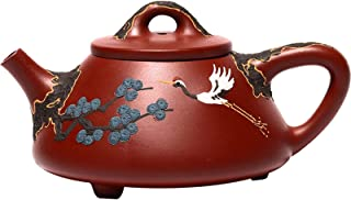 Songhe Yannianzi Zisha teapot, Handmade raw ore Dahongpao, Yixing Hand-Painted teapot