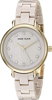 Anne Klein Women's AK/3312 Swarovski Crystal Accented Ceramic Bracelet Watch