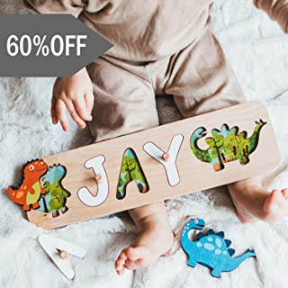 Name Puzzle Personalized Gift for Baby Shower and First Birthday Busy Board