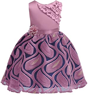 BestGift Summer Children Princess Dress For Girls Wedding Flower Girls Dress Kids Dresses For Girls Party Dresses