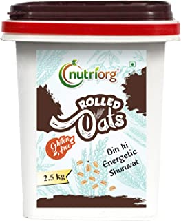 Nutriorg Gluten Free Rolled Oats 2.5 kg | High Fiber Protein Rich | Weight Management