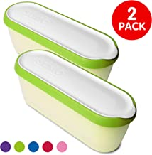 SUMO Ice Cream Containers: Insulated Tub. Dishwasher Safe. 1.5 Quart (2-Pack, Green)