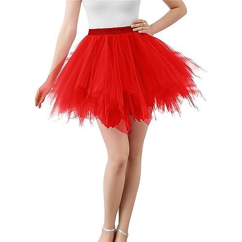 05640f0ef47 BIFINI Adult Women 80 s Tutu Skirt Layered Tulle Petticoat Halloween Tutu