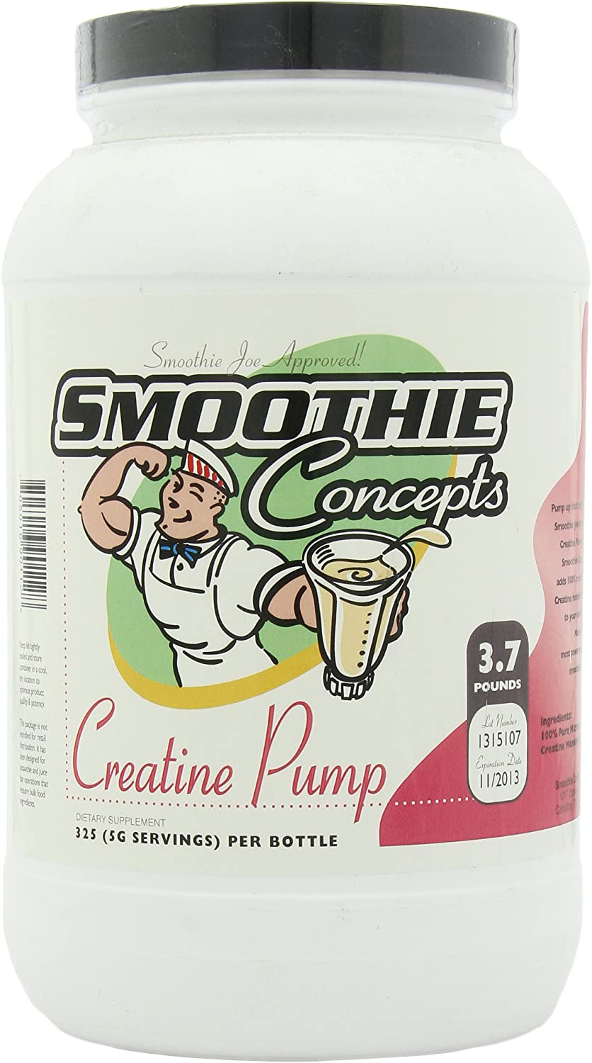Smoothie Concepts Very popular High quality Creatine 325-Servings Pump 3.7-Pounds