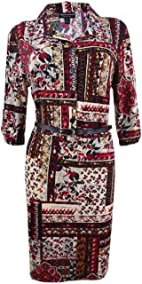 Connected Women's Petite Printed Shirtdress