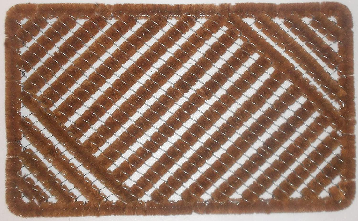 Happy House Coir Wire Door Mat Handmade Premium Quality Dimensions  29.5  (Length) x 17.8(Width) x 1.3  Thickness, Weight 4.5 Lbs.